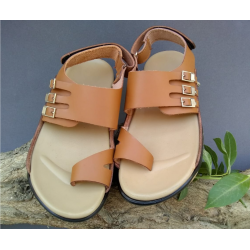 SR-01 = Handmade Leather Flip Flops Sandals .